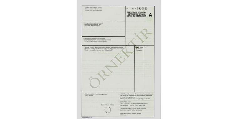 Menşe Şahadetnamesi (Certificate of Origin) Bu yıl daha da önem kazanan belge hakkında bilgi